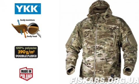 Флисовая кофта с капюшоном Helikon-Tex Patriot Heavy Fleece Camogrom (BL-PAT-HF-14) S, M, L