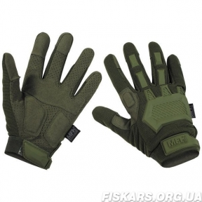 Перчатки тактические Tactical Handschuhe Action (Olive) MFH (Max Fuchs)