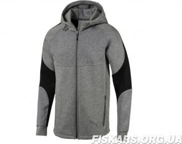 Худи Puma (Пума) Evostripe Men's Full Zip Hoodie Medium Gray Heather 583467_03