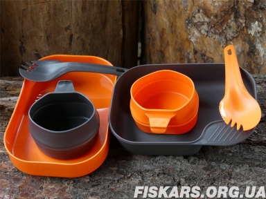 Набор посуды Wildo® CAMP-A-BOX® DUO Light - Orange / Dark Grey (6657)