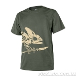 Футболка Helikon T-Shirt Full Body Skeleton Olive Green (TS-FBS-CO-02)