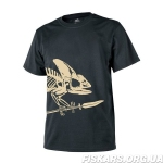 Футболка Helikon T-Shirt Full Body Skeleton Czarny TS-FBS-CO-01