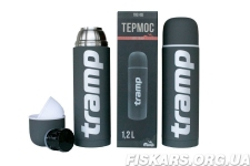 Термос Tramp Soft Touch 1.2 л темно-серый (TRC-110-grey)