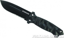 Нож для выживания Schrade - Partially Serrated Drop Point Fixed Blade - Black (SCHF40)
