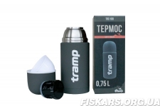 Термос Tramp Soft Touch 0,75 л серый TRC-108-grey