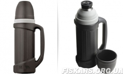 Термос фирмы Термос  (Thermos) с чашкой 1 л Hercules Stainless Steel Flask (150040)